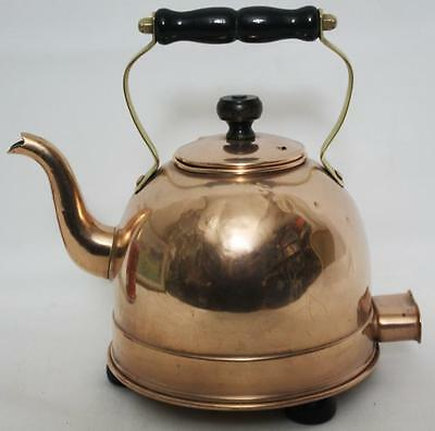 Vintage Copper Electric Kettle with Brass & Wood Handle  - FREE Postage [PL1726]
