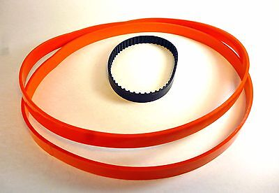 "Set of 2 URETHANE Band Saw TIRES + Toothed Belt for 9"" IRONSMITH BandSaw"
