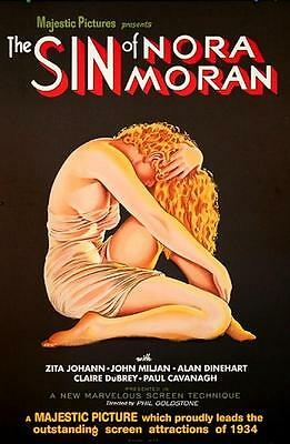 The Sin of Nora Moran Vintage Movie Poster Lithograph Zita Johann S2 Art
