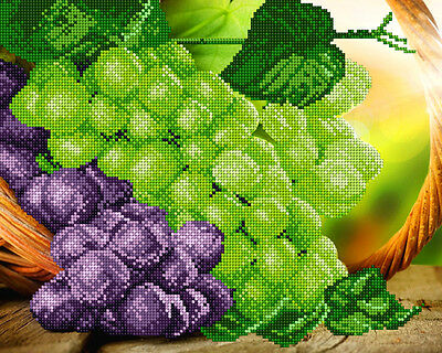 Grapes DIY beadpoint kit beaded embroidery seed beads tapestry crossstitch