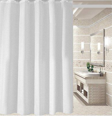 Crisp white shower curtain 2m*2.4m new free shipping