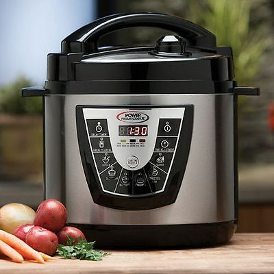 Power Pressure Cooker XL NEW IN BOX 1000 Watts 6 Qt For Canning to AS SEEN ON TV