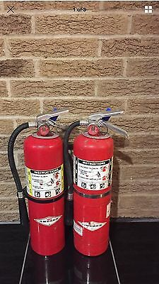 Set OF 2 FIRE EXTINGUISHER 10LB 10# ABC NEW CERT TAG (SCRATCH & Dirty)
