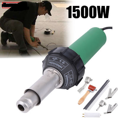 1500W Plastic Welder Welding Gun Hot Air Gun  With 2 Speed Welding Nozzle