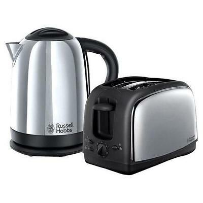 Russell Hobbs 21830 Lincoln Twin Pack Kettle And Toaster Stainless Steel - New