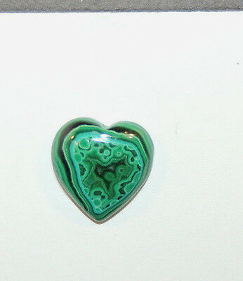 Malachite and Chrysocolla Heart Cabochon 15x15mm with 5mm dome  (9721)