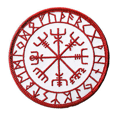 Ecusson patche Vegvisir symbole Viking patch Vikings brodé thermocollant