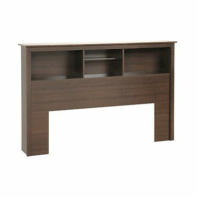 Prepac Furniture ESH-6643 Platform Storage Full/Queen Bookcase Headboard