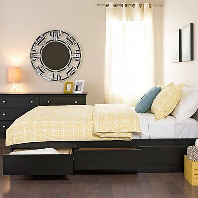 Prepac Furniture BBQ-6200-3K Queen Mate's Platform Storage Bed with Six Drawers