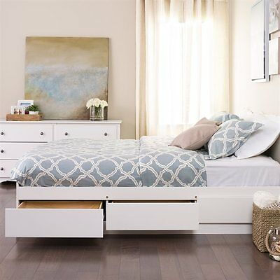 Prepac Furniture WBQ-6200-3K Queen Mate's Platform Storage Bed with Six Drawers