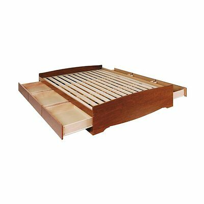 Prepac Furniture CBQ-6200-3K Queen Mate's Platform Storage Bed with Six Drawers