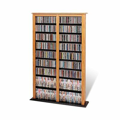 Prepac Furniture OMB-0800 0800 Double Width Barrister Multimedia Storage Tower