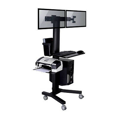 TygerClaw LVW8606 Public Mobile 2-TV Stand with PC Holder
