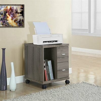 Monarch Specialties I 7056 2 Drawer Mobile Computer Stand