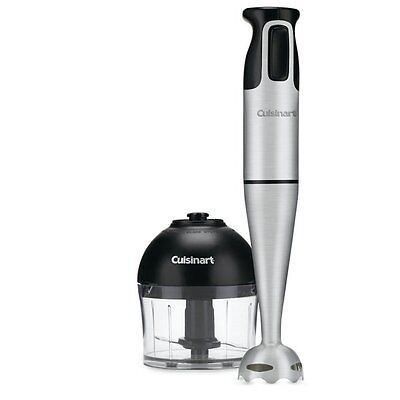 Cuisinart CSB-77C Stainless Steel Immersion Blender with Accessory Jar (CSB-77C)