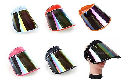 50 x SUN VISOR HAT CAP 2 TONE UV PROTECTION HIKING GOLF TENNIS OUTDOOR UV BLOCK