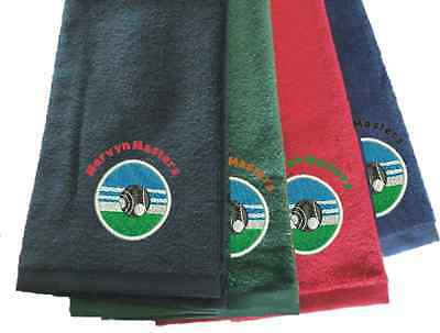 PERSONALISED TRI-FOLD BOWLS TOWEL Clubs Societies Indoor Outdoor Gift
