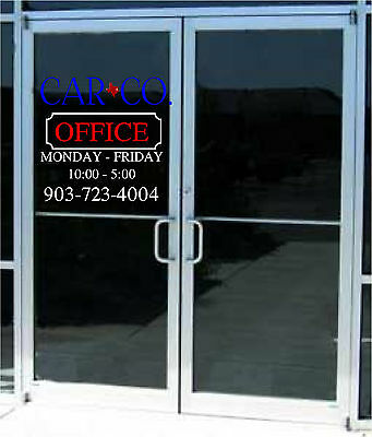 Your Custom Logo & Business Store Hours Sign Vinyl Decal Sticker 23x24