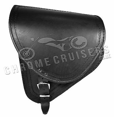 Harley Davidson Fat Boy Black Leather Swingarm Saddle Bag Single Side Pannier