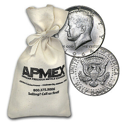 90% Silver Kennedy Half-Dollars $50 Face-Value Bag (1964) - SKU #88198