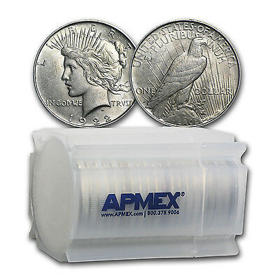 1922-1935 Peace Silver Dollars AU (20-Count Roll) - SKU #92369