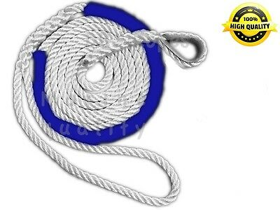3 strand mooring line pendant nylon rope 12 x 12 with chafe guard 3 strand mooring pendant premium nylon rope 34 x 30 thimble aloadofball Image collections