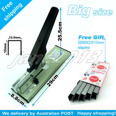 Extra Large Heavy Duty Stapler Office Stationary+FREE GIFT(2000X23/15mm staples)