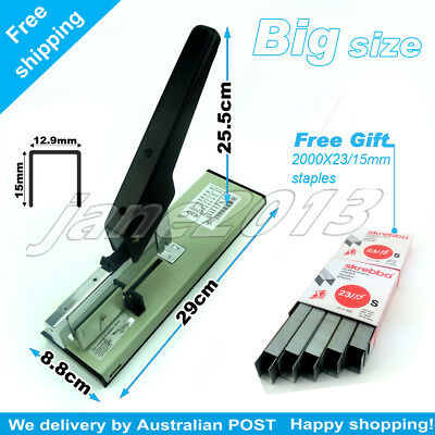 Extra Large Heavy Duty Stapler Office Stationary+FREE GIFT(2000X23/20mm staples)