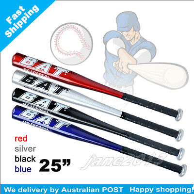 "blue-Brand New 25"" 63cm Aluminium Baseball Bat Racket Softball Outdoor Sports"