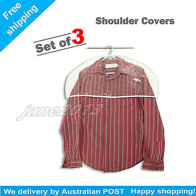 Dress Of Suit SHOULDER COVERS FOR CLOTHING PACK OF 3 COVERS SIZE FITS ALL AU