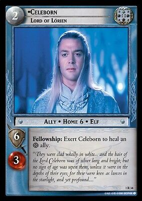 LORD OF THE RINGS TCG - 1R 34 Celeborn Lord Of Lorien - Decipher Lotr Tcg - Mint