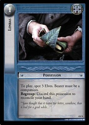 LORD OF THE RINGS TCG - 4R 75 Lambas - Decipher - Lotr - Mint - Elven