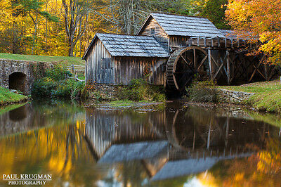 Mabry Mill - Photo 8x12 Unframed Photography Fine Art Print Signed