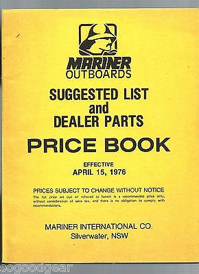 Mariner Outboards Price Book 1976