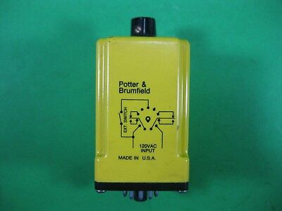 Potter & Brumfield Time Delay Relay 1 to 10 min. -- CGB-38-78010M -- Used