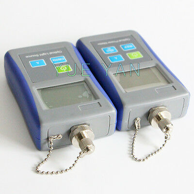 Handheld Optical Light Source Optical Power Meter Send 3 Adapters SC/ST/FC Adapt