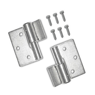 Pair of Steel Gate Hinges Heavy Duty Ball Bearing Hinges with Screws Right Side