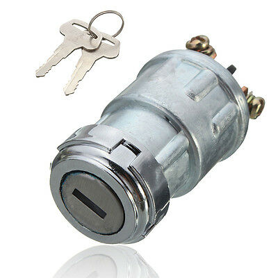 Universal Replacement Ignition Switch Lock Cylinder with 2 Keys for Car Auto NEW