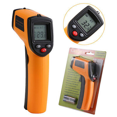 Liqoo Digital LCD Non-Contact Infrared Thermometer Laser IR Point -50 to 380℃