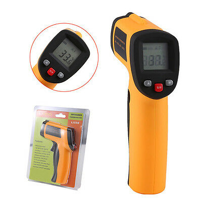 Liqoo Digital LCD Infrared Thermometer Laser IR Non-Contact Point -50 to 550℃