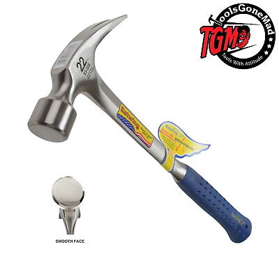 Estwing E3-22S 22Oz Steel Straight Rip Claw Hammer Long Handle Carpenter Framing