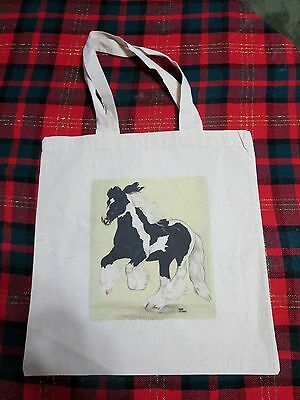 Gypsy Vanner Horse Printed On Canvas Tote Bag