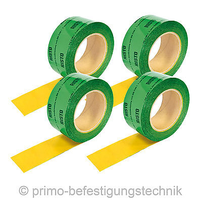 4 Roll (60mmx100m) Self-adhesive polypropylene fabric-base tape Vapour Barrier