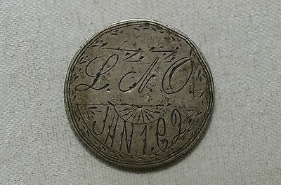 1883 Love Token Liberty Seated Silver Dime - #03057 F