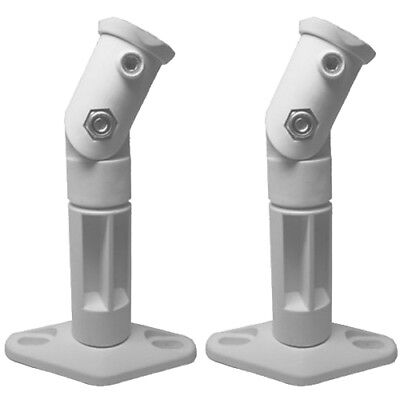White - 2 Pack Lot - Universal Wall or Ceiling Speaker Mounts Brackets fits BOSE