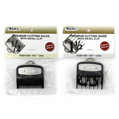 Wahl Premium Cutting Guides w/ Metal Clip #1/2 (#3354-1000) & #1 1/2 (3354-1100)