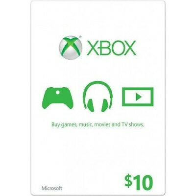 $10 US Xbox Gift card