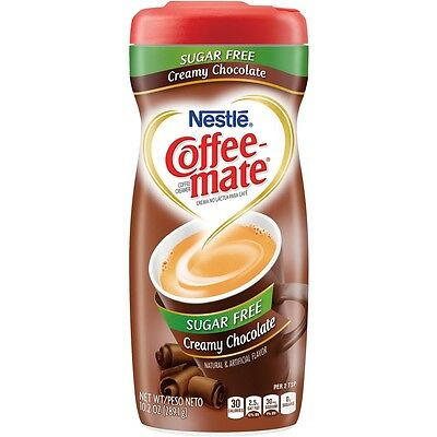 Nestle Sugar Free Coffee Mate Powder - Creamy Chocolate, Low Carb, Low Fat