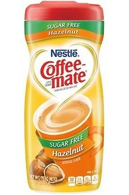 Nestle Sugar Free Coffee Mate Powder - Hazelnut, Low Carb, Low Fat