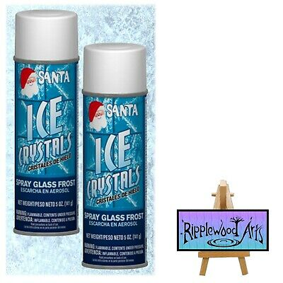 Santa Artificial ICE CRYSTALS - Use on Windows, Mirrors and Glass  x 2
